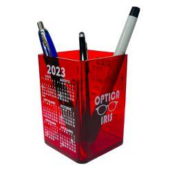 00063-Cubo portalapiz de color con calendario
