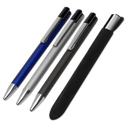 02338-Boligrafo metálico con funda